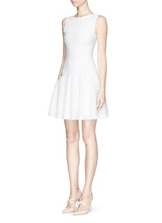 Alaïa 'Libellule' mesh frill sleeveless knit dress