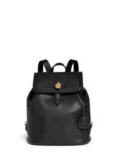 ALEXANDER MCQUEEN 'Padlock' skull leather backpack