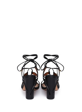 Back View - Click To Enlarge - Valentino - 'Rockstud' leather strappy sandals