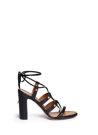Main View - Click To Enlarge - Valentino - 'Rockstud' leather strappy sandals