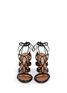 VALENTINO'Rockstud' leather strappy sandals