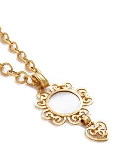 Vintage Chanel Logo heart loupe pendant necklace
