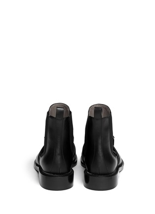 Back View - Click To Enlarge - Givenchy - Square buckle leather Chelsea boots