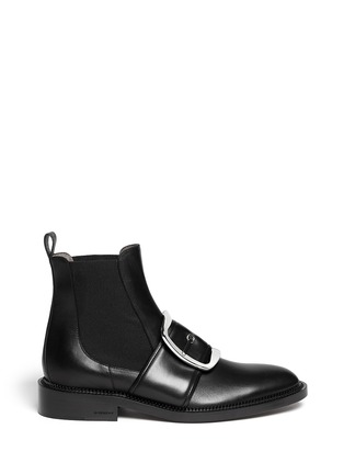 Main View - Click To Enlarge - Givenchy - Square buckle leather Chelsea boots