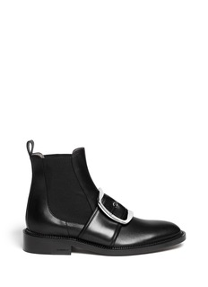 GIVENCHYSquare buckle leather Chelsea boots