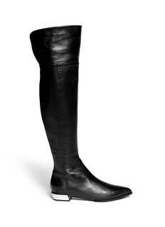 SERGIO ROSSI 'Scarpe Donna' metallic heel leather boots
