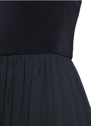 Detail View - Click To Enlarge - alice + olivia - Leather spaghetti strap high-low maxi dress
