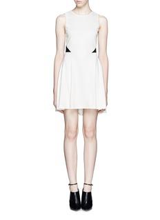 ALICE + OLIVIA'Evan' ponte lace flare dress