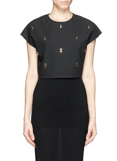 ELIZABETH AND JAMES 'Colton' embellished cropped top