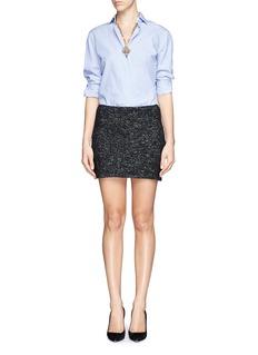 ALICE + OLIVIAClean fit wool blend mini skirt