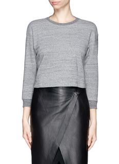 THEORY'Erez R' Crop sweatshirt