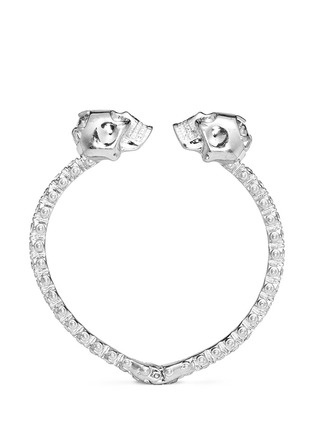 Main View - Click To Enlarge - Alexander McQueen - Double skull crystal bangle