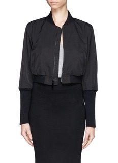 ELIZABETH AND JAMES Cropped bomber jacket