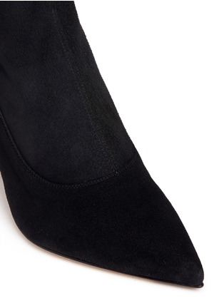Detail View - Click To Enlarge - SERGIO ROSSI - Suede thigh-high boots