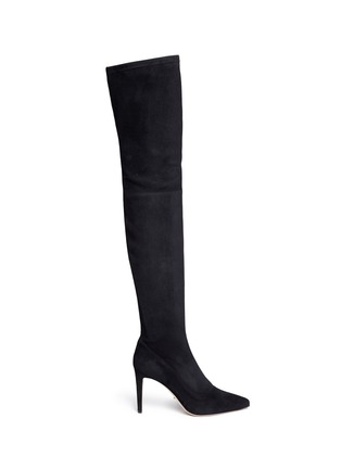 Main View - Click To Enlarge - SERGIO ROSSI - Suede thigh-high boots