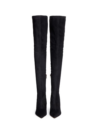 Figure View - Click To Enlarge - SERGIO ROSSI - Suede thigh-high boots