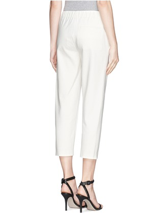 Back View - Click To Enlarge - Theory - 'Kleon B' elasticated tuxedo pants