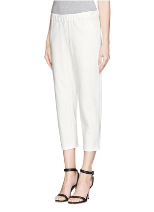 Front View - Click To Enlarge - Theory - 'Kleon B' elasticated tuxedo pants
