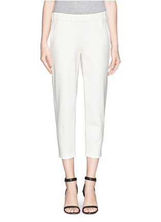 Main View - Click To Enlarge - Theory - 'Kleon B' elasticated tuxedo pants