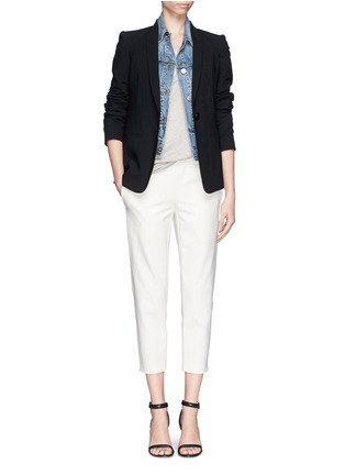 Figure View - Click To Enlarge - Theory - 'Kleon B' elasticated tuxedo pants