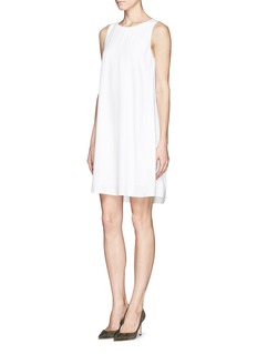 THEORY 'Docma' back pleat crepe dress