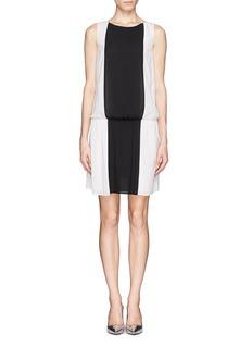 ALICE + OLIVIA'Bristol' colourblock drop waist dress