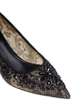 Detail View - Click To Enlarge - René Caovilla - Mesh crystal embellished heels
