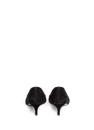Back View - Click To Enlarge - René Caovilla - Mesh crystal embellished heels