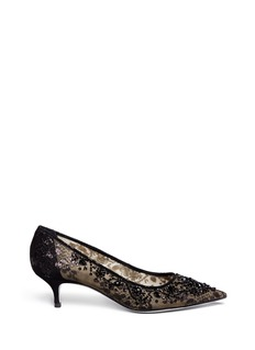 RENÉ CAOVILLAMesh crystal embellished heels