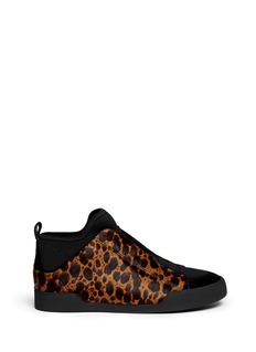 3.1 PHILLIP LIM'Morgan' leopard calf hair sneakers