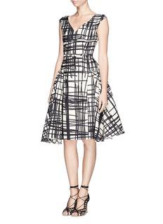 CHICTOPIAStroke print flare dress