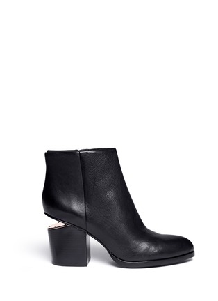 Main View - Click To Enlarge - Alexander Wang  - 'Gabi' cutout heel leather ankle boots