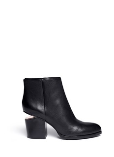 ALEXANDER WANG  'Gabi' cut-out heel leather ankle boots