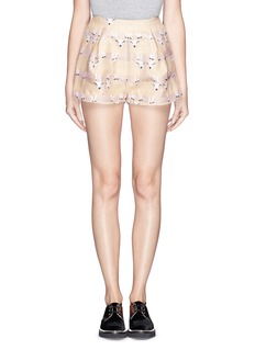 CHICTOPIA Sheep jacquard twill shorts