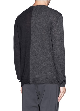 Back View - Click To Enlarge - T By Alexander Wang - Colourblock alpaca-wool sweater
