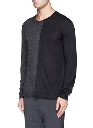 Front View - Click To Enlarge - T By Alexander Wang - Colourblock alpaca-wool sweater