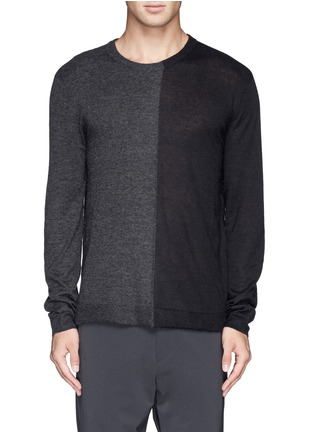 Main View - Click To Enlarge - T By Alexander Wang - Colourblock alpaca-wool sweater