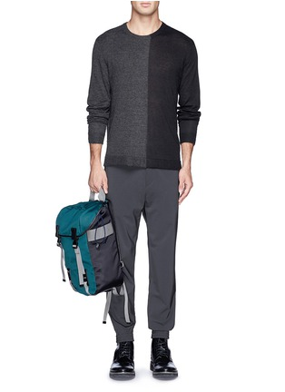 Figure View - Click To Enlarge - T By Alexander Wang - Colourblock alpaca-wool sweater