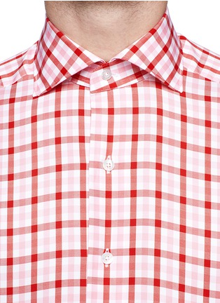 TOMORROWLAND - Contrast gingham check cotton shirt