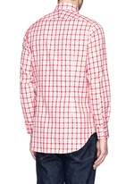 Contrast gingham check cotton shirt