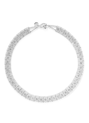 Main View - Click To Enlarge - Philippe Audibert - 'Lina' engraved metal elastic necklace