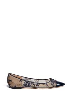 JIMMY CHOO'Aarya' point-toe lace flats