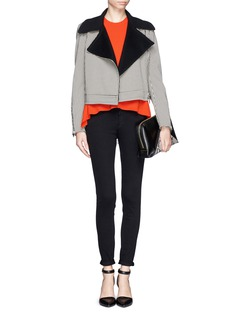 STELLA MCCARTNEY Cady back irregular hem wool sweater