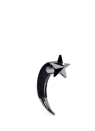 Main View - Click To Enlarge - Givenchy - Shagreen shark star single earring