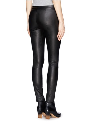 Back View - Click To Enlarge - The Row - 'Moto' stretch leather leggings