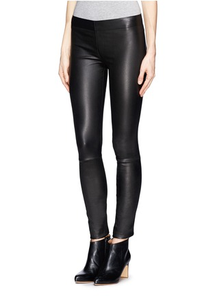 Front View - Click To Enlarge - The Row - 'Moto' stretch leather leggings