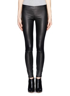 THE ROW'Moto' stretch leather leggings