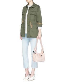 Meli Melo'Rose Thela' mini leather crossbody bag