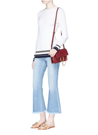 Figure View - Click To Enlarge - Chloé - 'Faye' small goatskin leather shoulder bag