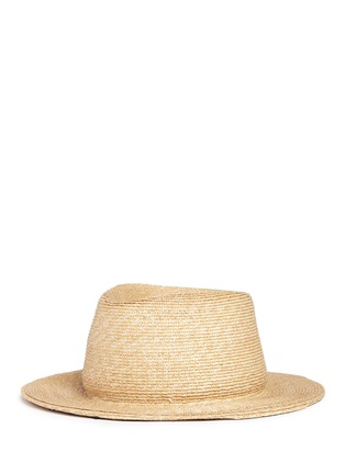 Figure View - Click To Enlarge - YUNOTME BY GLORIA YU - 'Micha' floral lace panama straw hat